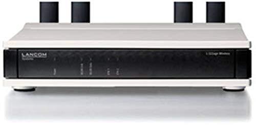 Preisvergleich Produktbild LANCOM L-322agn Access Point mit bis zu 300 MBit / s,  Vier Reverse SMA-Antennenanschlüsse,  PoE (IEEE 802.3af),  Dual Concurrent WLAN (2, 4 & 5 GHz) Active Radio Control (ARC),  Schwarz-Grau