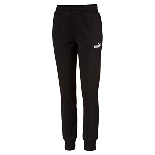 PUMA Ess Sweat Pants FL Cl, Pantaloni Tuta Donna, Nero (Cotton Black), L