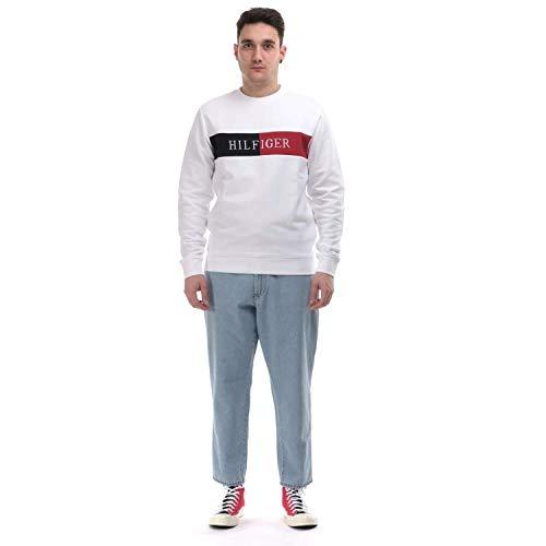 Preisvergleich Produktbild Tommy Hilfiger Herren Hilfiger Intarsia Sweatshirt,  Weiß,  XX-Large (Herstellergröße:)