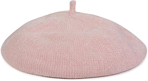 styleBREAKER Boina Vasca de Mujer en Suave óptica de Pana, Gorro francés 04024151, Color:Rosa