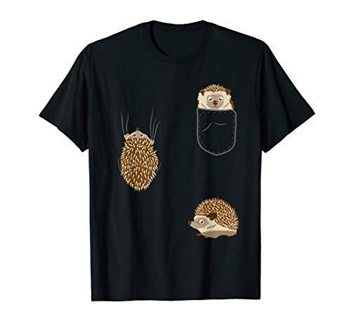 Kinder Igel in Brusttasche Kleidung Hedgehog Geschenk Igel T-Shirt