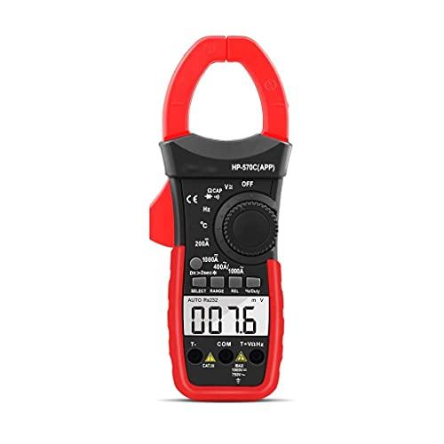 GAXLM Medidor de Abrazadera Digital 570C-APP 1000A AC/DC Capacitación de Voltaje de Voltaje de Voltaje Multímetro Conecte al probador de teléfono
