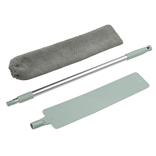 LISRUILY - Cepillo de limpieza, cepillo de limpieza, kit de limpieza para el hogar, herramienta de eliminación de polvo de mango largo, reutilizable y fácil de limpiar.