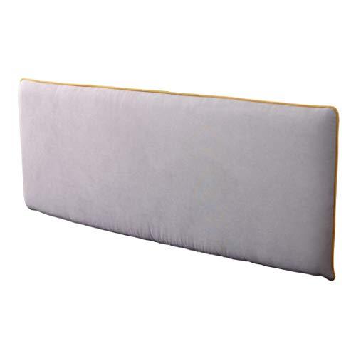 Uus Lit Soft Pack Coussin, Lit Double Grand Dossier en Tissu Amovible Lavable Coussin Repos (Gris Clair) Pillow (Couleur : Bedside, Taille : 123 * 66 * 10cm)
