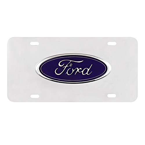Pilot Automotive Accessory LP-021B Ford Chrome 3D Plate