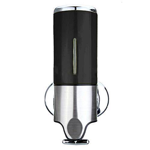 LACKINGONE Seifenspender, 500 ml, für Badezimmer, Küche, zur Wandmontage, für Shampoo, Gel-Pumpe Schwarz