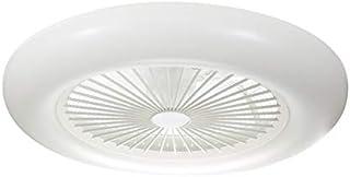 LEDUNI Ventilador de Techo con Luz Lámpara LED 36W Ventilador Invisible App Control con Mando a Distancia Luz Regulable Luz Fría/Neutra/Cálida Φ55*H20cm Iluminación Decorativo