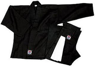 PROFORCE 6oz 100% Cotton Karate Gi/Uniform - Black - Size 2