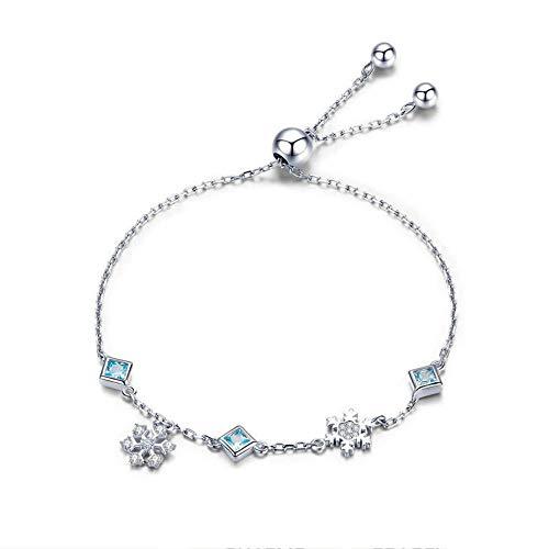 Silber Armband Winter 925 Sterling Silber Schneeflocke Schneeflockenkette Armband Damen Marken Armband Silberschmuck