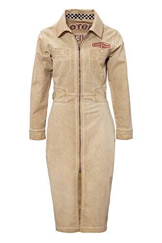 Queen Kerosin Motor Queen Service Vestido, Beige, XS para Mujer