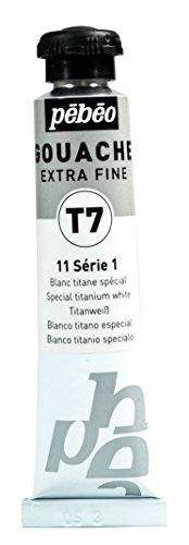 Pébéo Gouache Pintura 1 Tubo de 20 ml Blanco de titanio