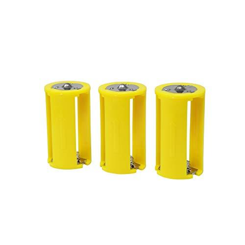 ニサク(nisaku) 電池スペーサー AAA×3>D 単3>単1 3個入 No.6001