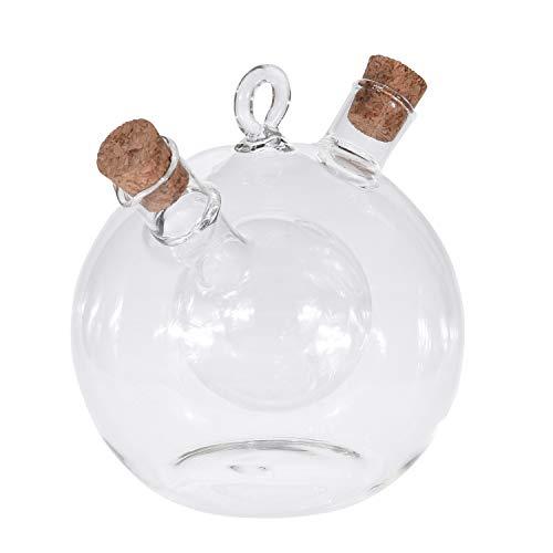 Your castle - Aceitera y vinagrera (cristal, con tapón de corcho, 12...