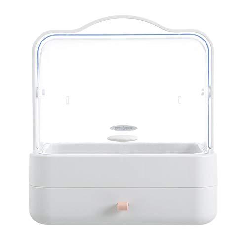 ZHHAOXINCO sterke cosmetische opslag make-up organisator voor opslag in de badkamer of slaapkamer, voor Lipsticks sieraden, nagellak, naaien draad dressing tafel, wit