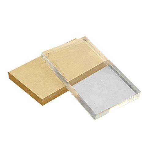 Monllack Leichte Transparent Acryl Stempel Block Rechteckige Form DIY Scrapbooking Farbe Prozess Stempel Block Werkzeuge