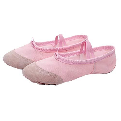 EXCEART 1 par de Zapatos de Baile de Ballet Zapatillas de Punta para Niña Zapatillas Zapatillas de Práctica de Yoga para Niñas Pequeñas Niños Adultos - Talla 35 (Rosa)