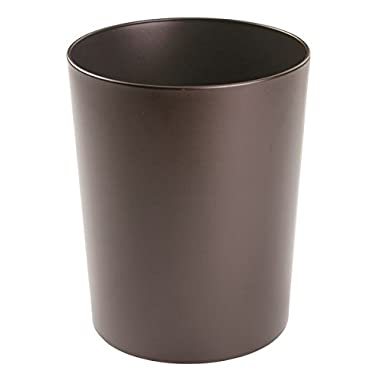 InterDesign Patton Wastebasket Trash Can for Bathroom, Office, Kitchen - Bronze
