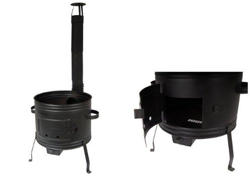 troph-e-shop Ofen 42 für Gulaschkessel Holzofen Gulaschkanone Terrassenofen für Topf bis 35 Liter