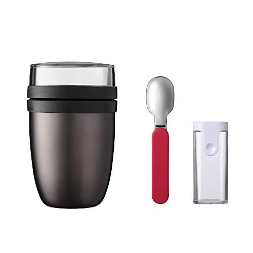 Mepal Thermo Lunchpot Ellipse Plus - Recipiente térmico para comida (titanio)