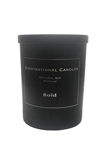 Scentsational Candles, Premium Soy (Man Candle) Bold, Black