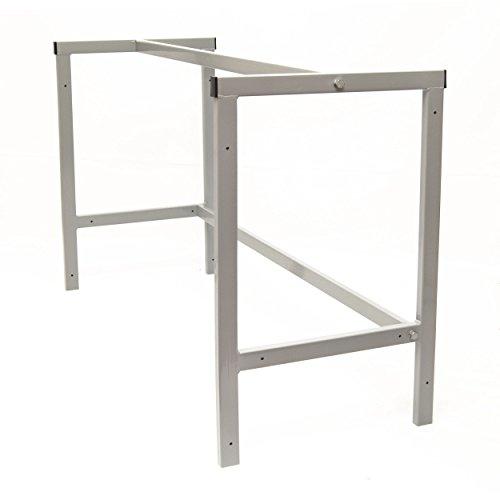 Werkstatttisch Arbeitstisch Werkbank Werktisch Tischgestell Packtisch 110cm Grau [C]