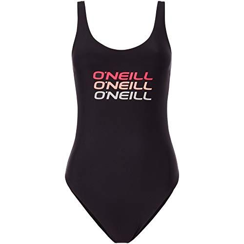 O'Neill Damen PW Logo Tripple Badeanzug, Schwarz (Black Out), 38