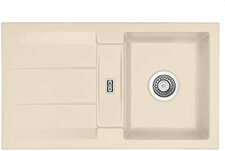 Systemceram Genea 87 Noblesse Keramik-Spüle Handbettigung Küchenspüle Einbau