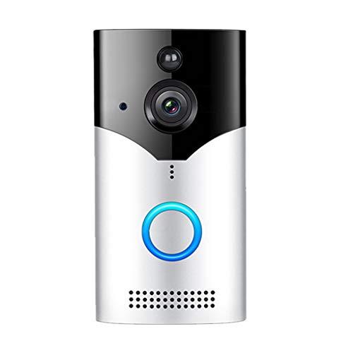 Wireless WiFi Video Doorbell Smart Phone Door Ring Intercom Security 1080P Camer (Black)