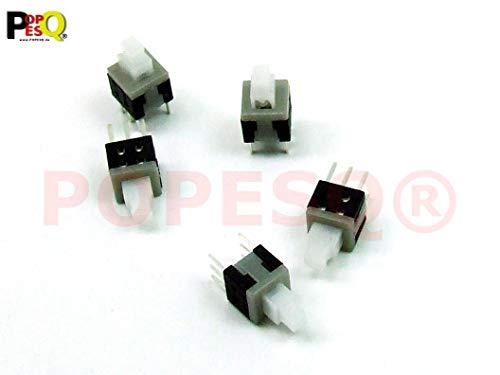 POPESQ® -5 STK. x Mini Schalter/Switch 6x6mm Latching Mikroschalter THT PCB #A283