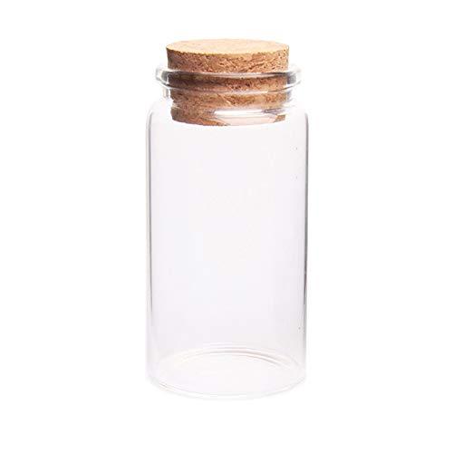 MHXY Transparent 50 stücke 47 * 90mm 100ml Glasflasche Wishing Flasche Leere Probe Aufbewahrungsgefäß mit Korkstopper Drop Schiff - transparent Glasflasche