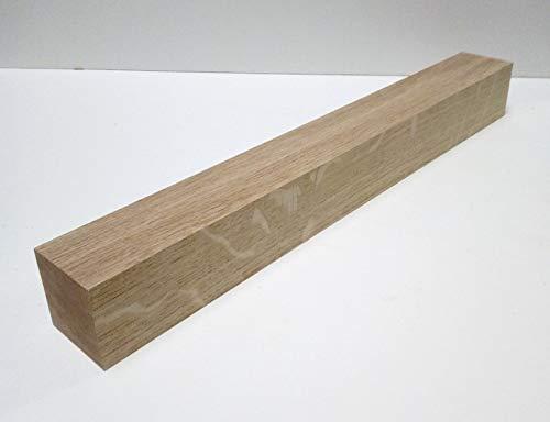 1 Stück Tischfüß Kanthölzer 6x6cm stark Eiche massiv. Kantholz Leisten drechseln bastel Holz. Sondermaße. (6x6x120cm lang)