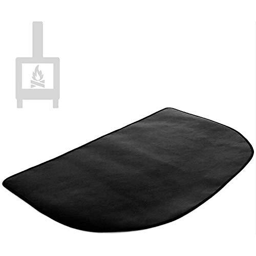 Fire Pit Pad, Fire Pit Tapete de alta temperatura, fogueiras de lareira meia redonda, gramado, pátio, chaminé, deck Defender-Black 2018