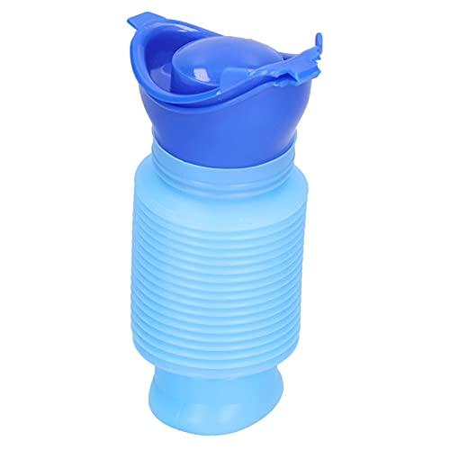 Botella de orina portátil, urinario elástico plegable unisex reutilizable, orinal de viaje para acampar, adecuado para conducción de automóviles a larga distancia y actividades de campamento al aire l