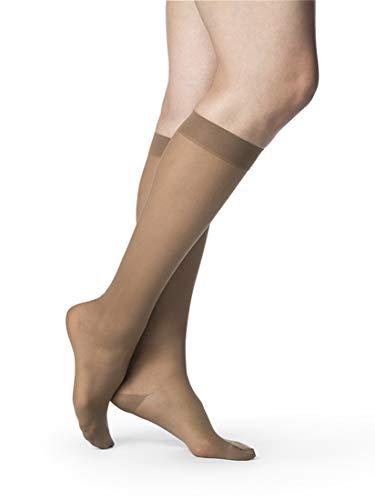 SIGVARIS Women's Style Sheer 780 Closed Toe Calf-High Socks 15-20mmHg