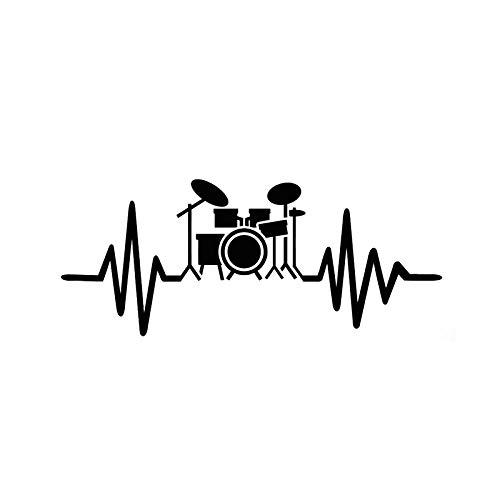 WZZA Pegatinas de automóviles Pegatinas de automóviles Personalizadas Músicos de batería Música Rock PVC Impermeable Portátil Motocicleta Accesorios para automóviles 15 cm X 6 cm (Color : Black)