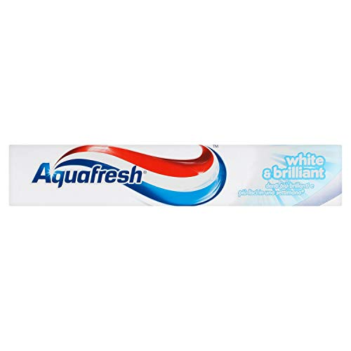 Aquafresh - white&brillant, Dentifricio al Fluoro - 75 ml