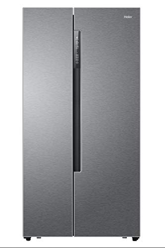 Haier HRF-522DG7 Independiente 515L A++ Plata nevera puerta lado a lado - Frigorífico side-by-side (Independiente, Plata, Puerta americana, LED, 515 L, SN-ST)