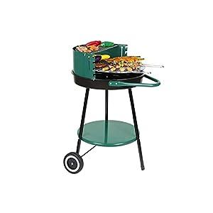 ZQYYUNDING Barbacoa Grill, Parrilla de Barbacoa Parrilla portátil Grill Barrow Grill Trolley Camping Grill con 2 Ruedas, ventilación Ajustable, for picnics de jardín al Aire Libre