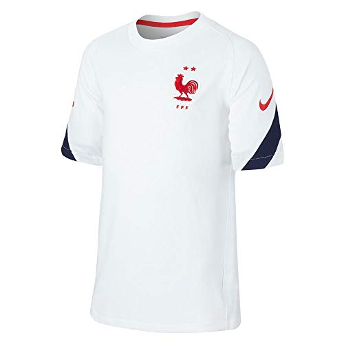 Nike 2020-2021 France Training Football Soccer T-Shirt Jersey (White)