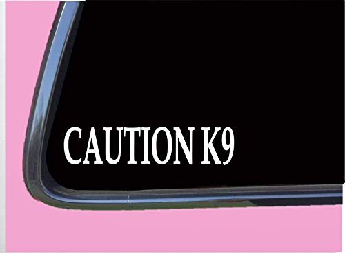 Caution K9 8' Sticker Tp 685 Police Decal Malinois German Shepherd Muzzle Badge Vinyl Decal for Cars, Trucks, Laptops