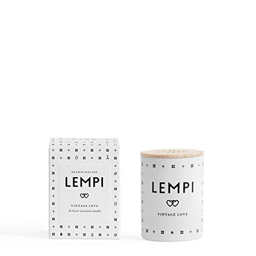 Skandinavisk Lempi Scented Candle With Lid 55g - Peony And Rose, Strawberries And Mosses - Organic Ingredients - Vegan, 1312