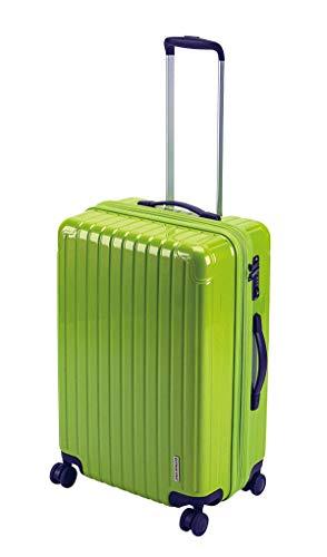 キャプテンスタッグ(CAPTAIN STAG) スーツケース キャリーケース キャリーバッグ 超軽量 TSAロック ダブルホイール 360度回転 静音 ダブルファスナータイプ Mサイズ エアーグリーン パルティール UV-80