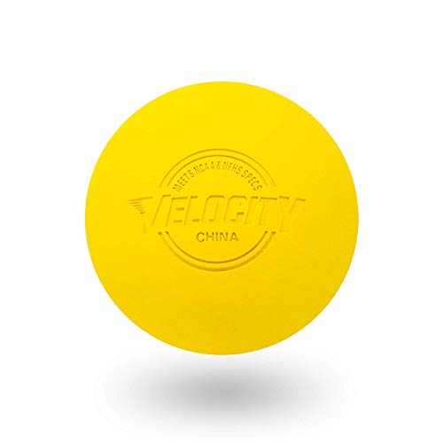 2 Pack of Velocity Lacrosse Balls. - Color Yellow.