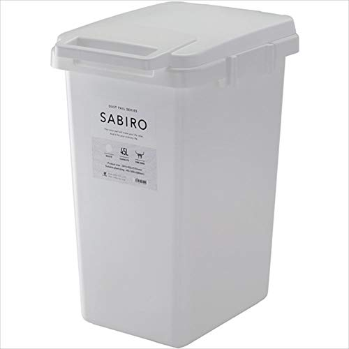リス ゴミ箱 連結ワンハンドペール SABIRO 45J ホワイト 47L 日本製