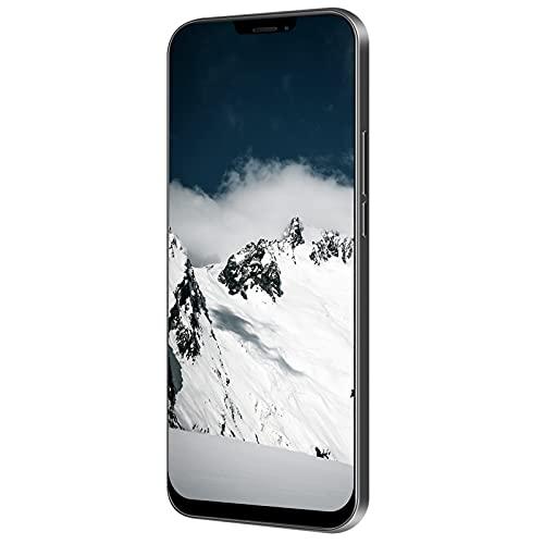 SHYEKYO Teléfono Celular iLUS 12Pro Smartphone con 2 cámaras traseras HD, teléfonos Inteligentes 6.26in Fullscreeen, Pantalla Curva 3D - Experiencia DE Cine INMERSIVO(Rock Negro)