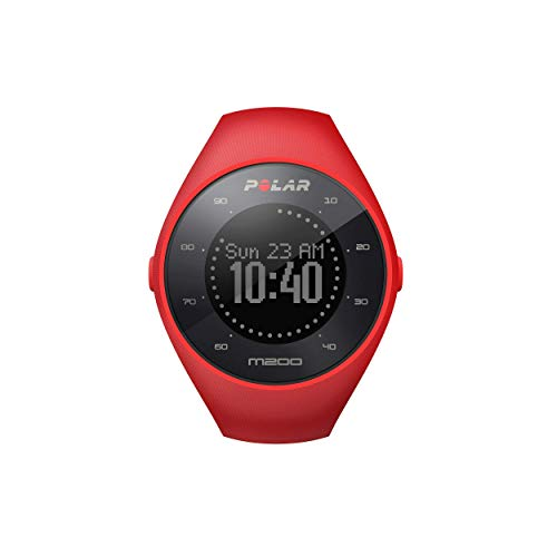 Read About POLAR M200 GPS Running Watch with Wrist-Based Heart Rate, Red, Medium/Large (Renewed)