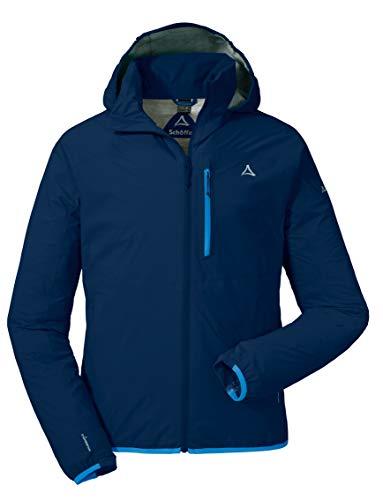 Schöffel Herren Jacket Toronto2 Wind-und wasserdichte Jacke mit verstaubarer Kapuze, atmungsaktive Regenjacke für Männer, Blau (dress blues), 56