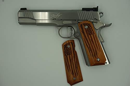 FZ Custom Grips 1911 American Flag Exotic Hardwood Fits Colt-Kimber-S&W-Springfield-Taurus-Caspian-Ruger