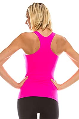 Kurve Women's Basic Tank Top - Seamless Lightweight Racerback Supersoft Camisole Stretchy Workout Athletic Yoga Top (Made in USA) by