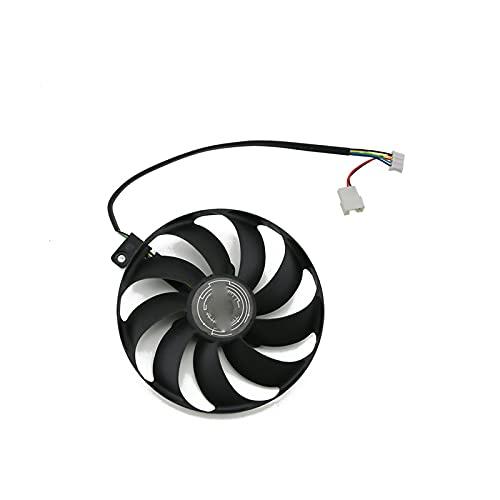 Jinyouqin T129215SU Ventilateur de Refroidissement de la Carte vidéo pour ASUS RTX 2060 Super 2070 2080 2080Super Dual Evo avancé Carte Graphique Ventilateur de Refroidissement (Blade Color : White)
